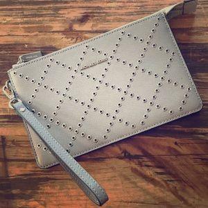 MICHAEL KORS Wristlet Purse Bag Gray